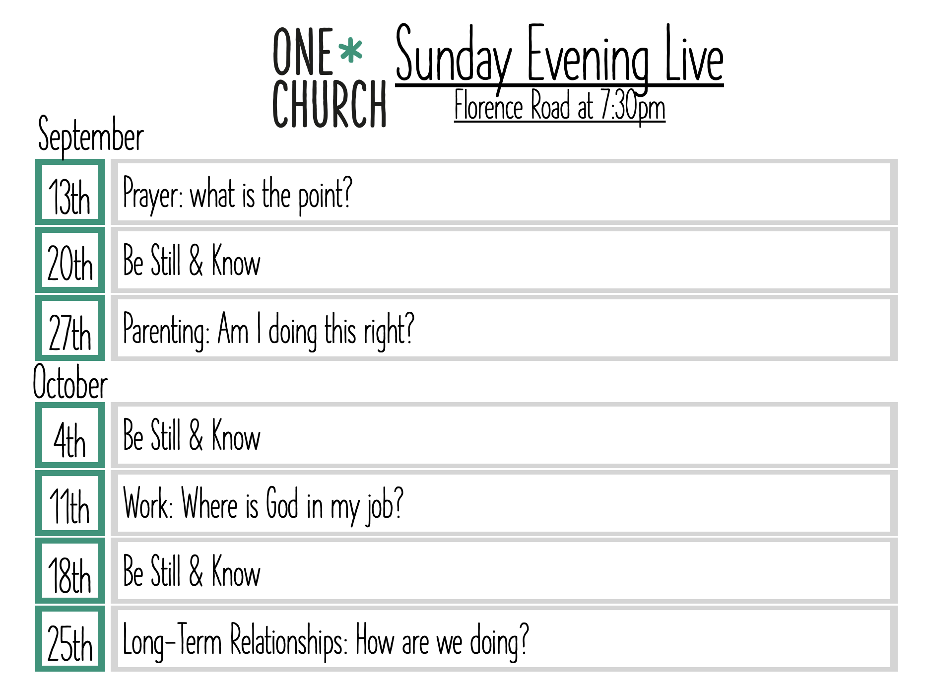 information about sunday evenings